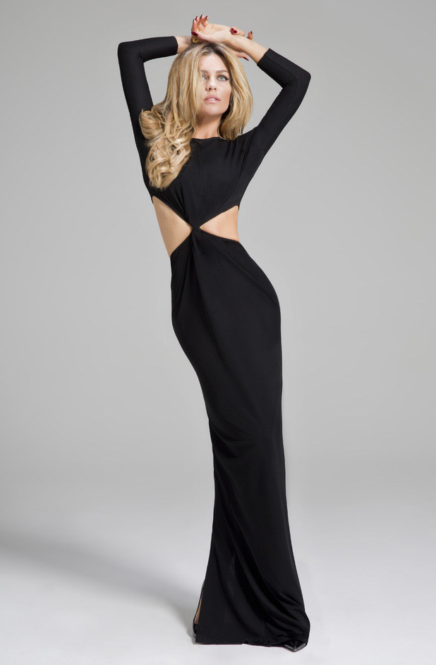Abbey Clancy models her autumn/winter '14 party collection for Matalan - 17 November 2014