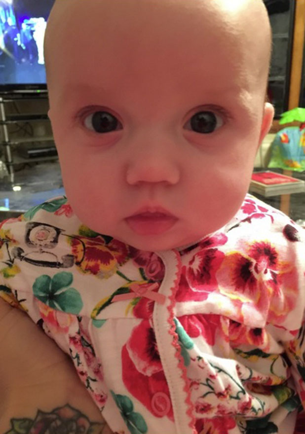 Katie Price shares picture of her baby daughter Bunny, 18 November 2014