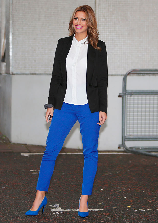 Ferne McCann outside the ITV studios, 18 November 2014