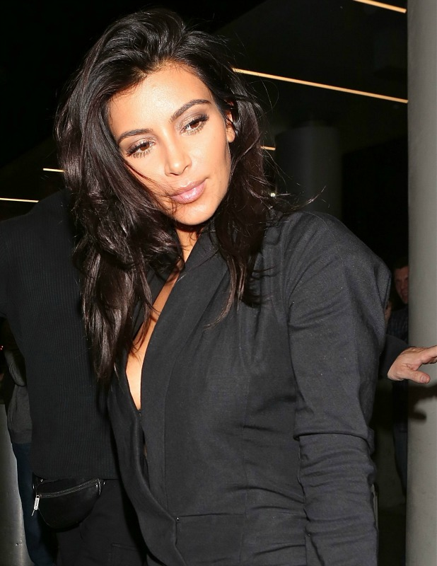 Kim Kardashian leaving LAX en route to Sydney for her world perfume tour, 15 November 2014