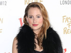 MIC's Rosie Fortescue oozes glamour in maxi gown and caged heels at party