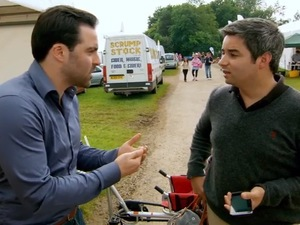 The Apprentice's Daniel Lassman and Felipe Alviar-Baquero argue at the Bath and West Show - 26 Nov 2014