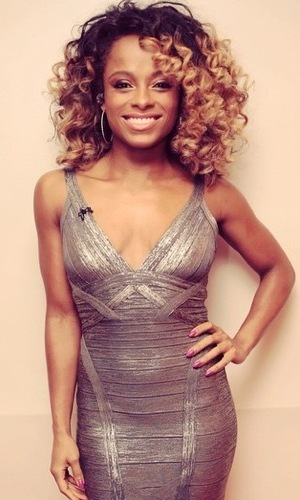 Fleur East prepares to perform on The X Factor - 22 November 2014