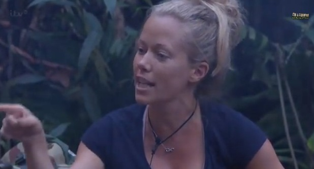 I'm A Celebrity... Get Me Out Of Here! Kendra Wilkinson argues with Edwina. Aired: 24 November 2014.