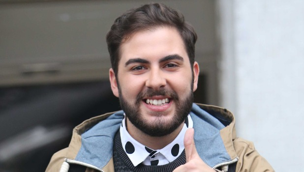 X Factor's Andrea Faustini arrives at ITV London for Loose Women appearance - 26 Nov 2014