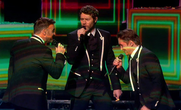 Take That perform their new single 'These Days' on 'The X Factor - Results', Shown on ITV1 HD - 23/11/2014.