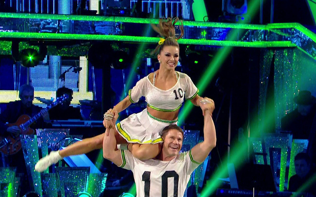 Steve Backshall performs the Jive on Strictly Come Dancing, BBC One 22 November