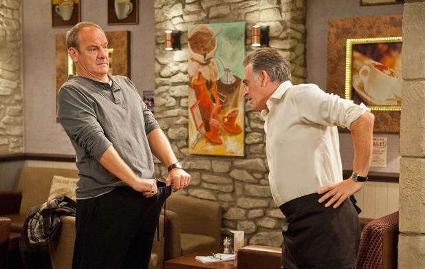 Emmerdale, Jimmy shows Bob his problems, Fri 29 Nov