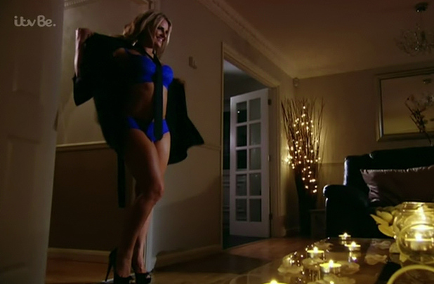 Danielle Armstrong strips to underwear on TOWIE 17 November