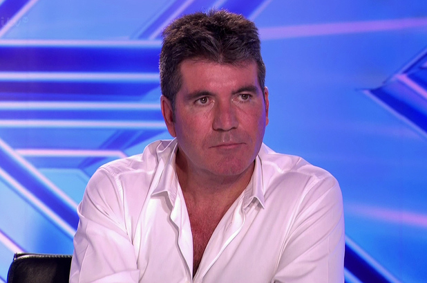 X Factor judge Simon Cowell during room auditions - 8 September 2014.