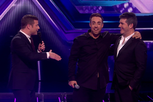 Stevi Ritchie is voted off after the judges vote on 'The X Factor - Results', Shown on ITV1 HD - 23 November 2014.