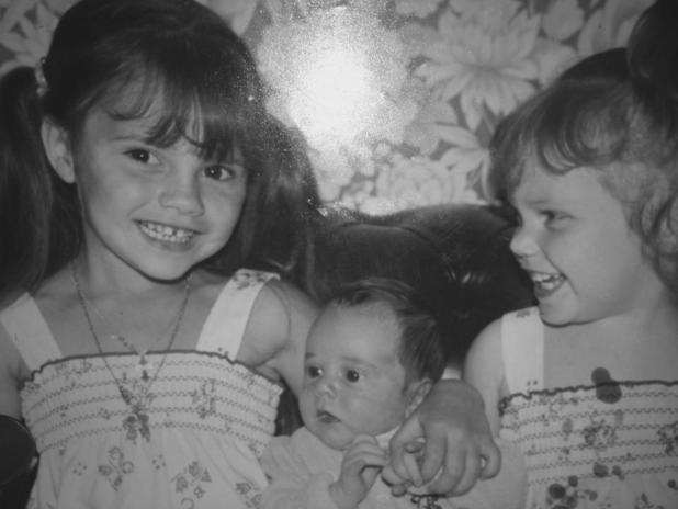 Victoria Beckham pictured with sister Louise and brother Christian as children - 27 Nov 2014