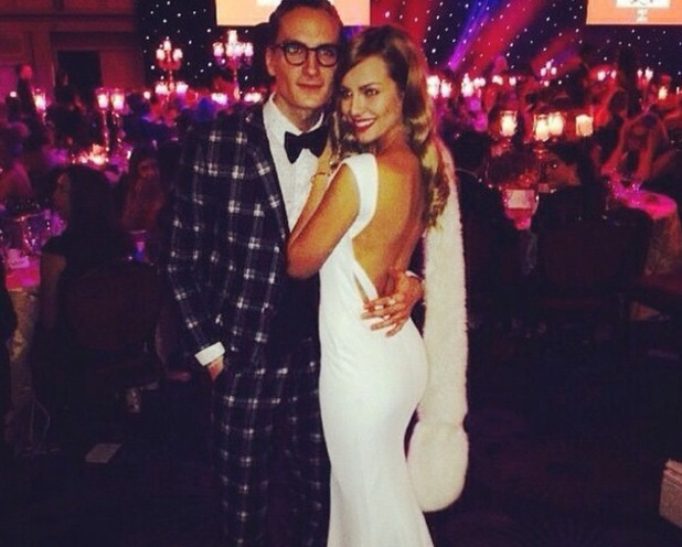 Oliver Proudlock and new girlfriend Emma Connolly, Charity Ball 21 November