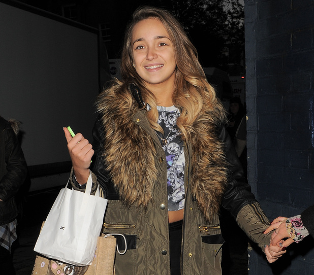 Lauren Platt outside X Factor rehearsals, London 24 November
