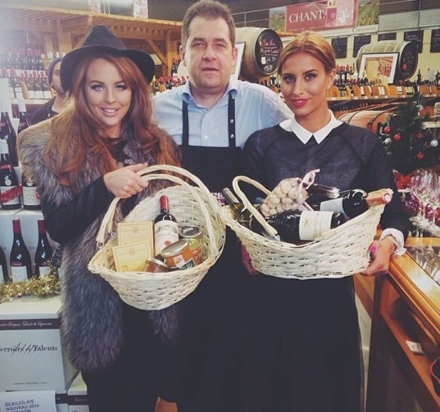 Ferne McCann and Lydia Bright film TOWIE Christmas special, France 26 November