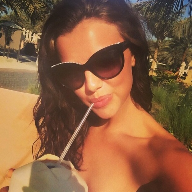Lucy Mecklenburgh on holiday in Dubai 27 November