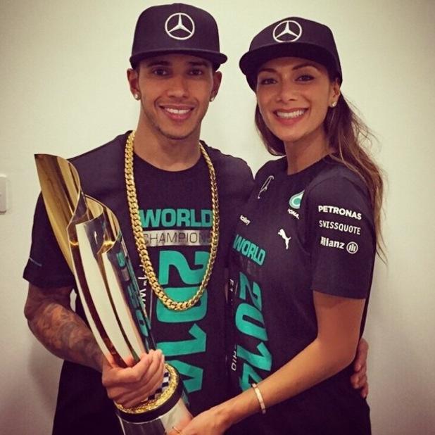 Lewis Hamilton and Nicole Scherzinger after his F1 world title win 23 November