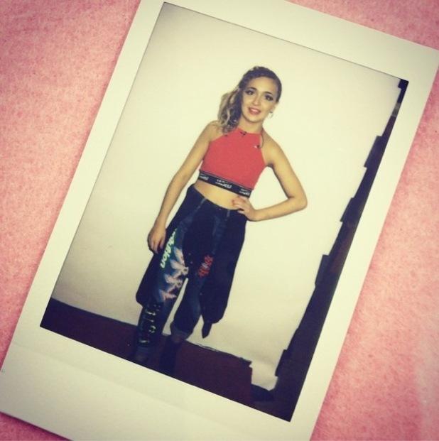 Lauren Platt prepares to perform on The X Factor - 22 November 2014