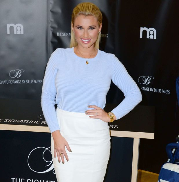 Billie Faiers at 'The Signature Range' photocall, Mothercare, London 28 November
