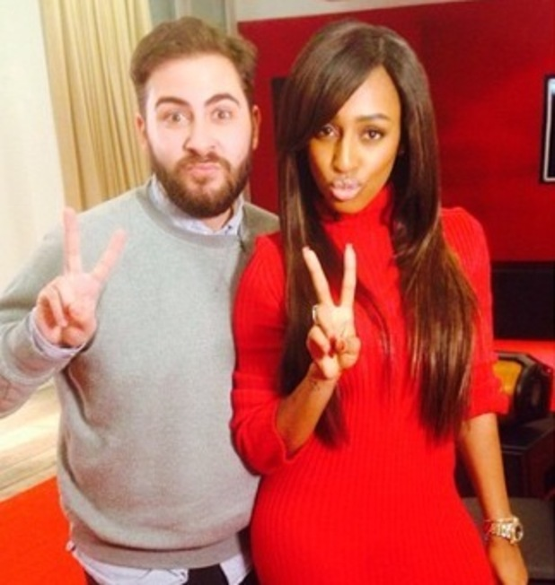 Alexandra Burke meets with Andrea Faustini, X Factor studios 20 November