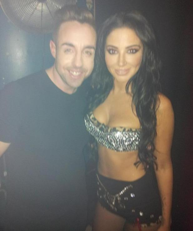 Tulisa performs live at G-A-Y alongside X Factor contestant Stevi Ritchie, 29 November 2014