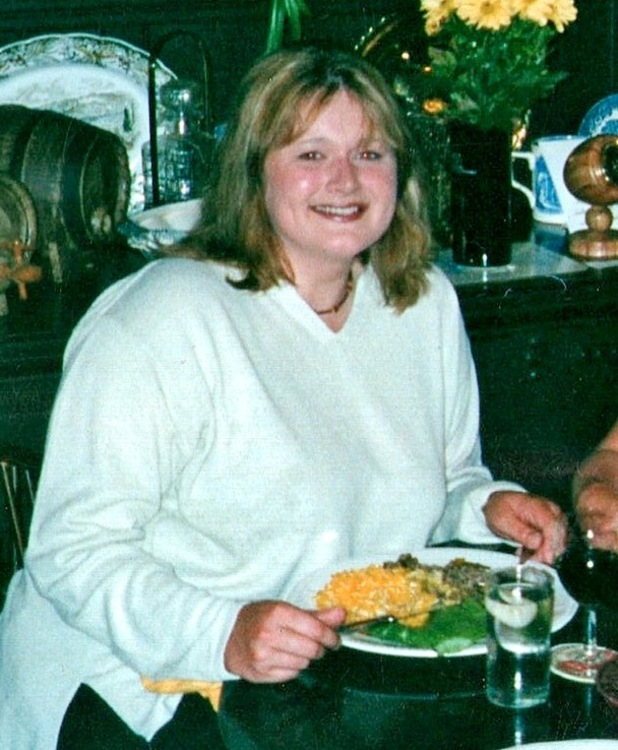 Sally Stone 'before' weight loss picture - she lost 8st for a sexy photoshoot