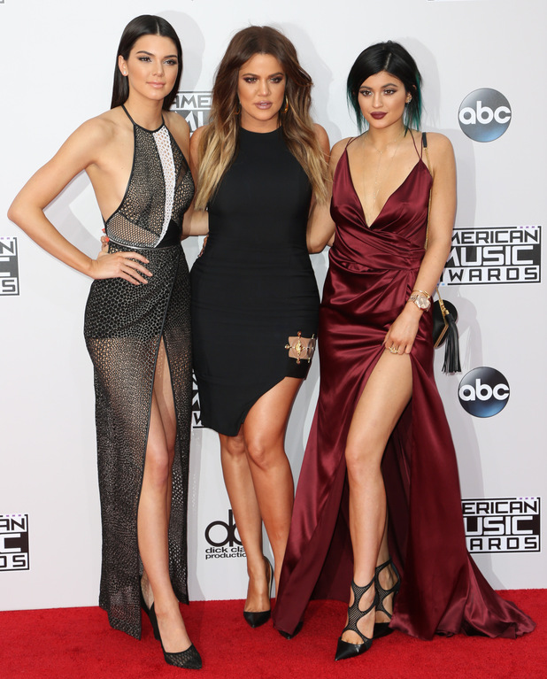 Khloe Kardashian, Kendall Jenner and Kylie Jenner attend the 2014 American Music Awards in Los Angeles, America - 23 November 2014