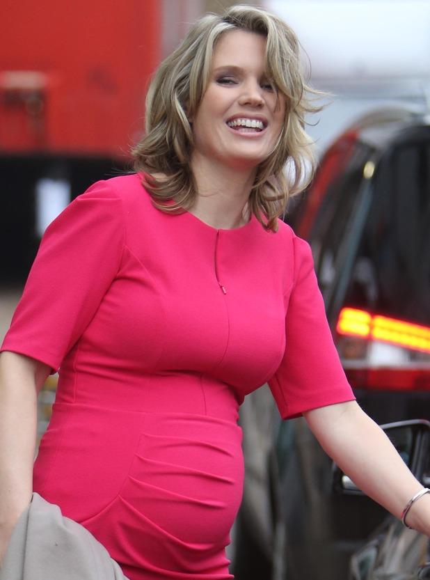 Charlotte Hawkins Pregnant Charlotte Hawkins looks pretty in pink as she