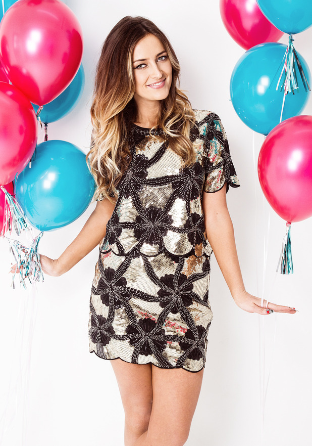 Made In Chelsea's Fran Newman-Young models her new clothing collection for Daisystreet.co.uk - November 2014