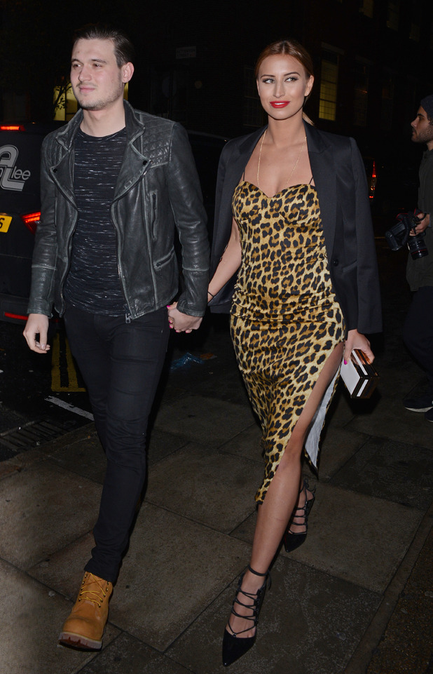 TOWIE's Charlie Sims and Ferne McCann at Christmas Party with In The Style, London, Britain - 25 Nov 2014
