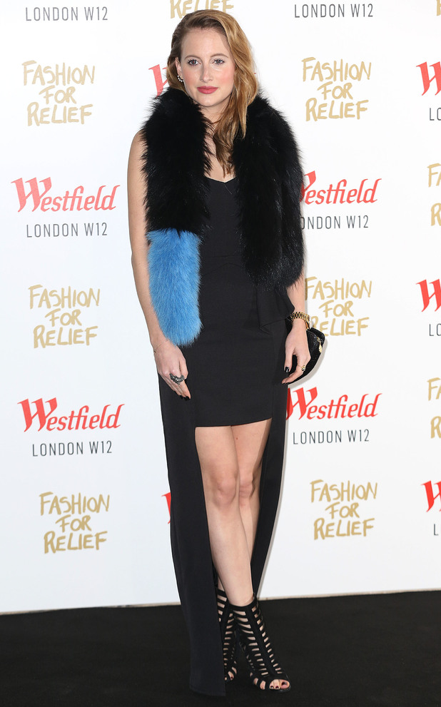 Made In Chelsea's Rosie Fortescue attends Naomi Campbell's Fashion For Relief pop-up shop party in Westfield, London - 27 November 2014
