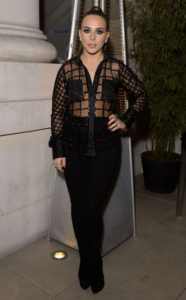 Chloe Green goes braless while attending the Hardly Ever Worn It Christmas party in London, England - 27 November 2014