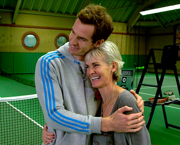 Andy Murray with his mother Judy Murray during rehearsals for this week's show, on 'Strictly Come Dancing'. Shown on BBC1 HD.