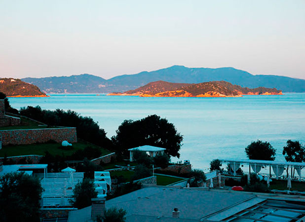Greece, Skiathos: Balcony sunrise