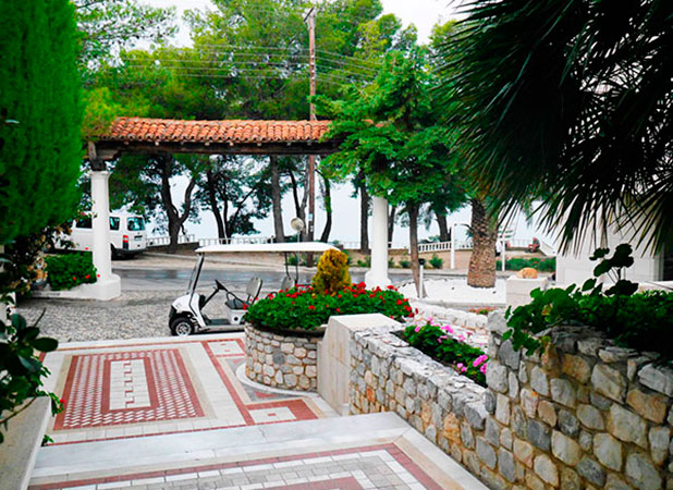 Greece, Halkidiki: Hotel entrance