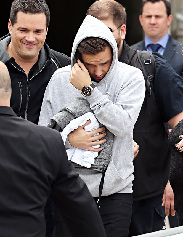 Liam Payne of One Direction arrives into Sydney on November 25, 2014 in Sydney, Australia.