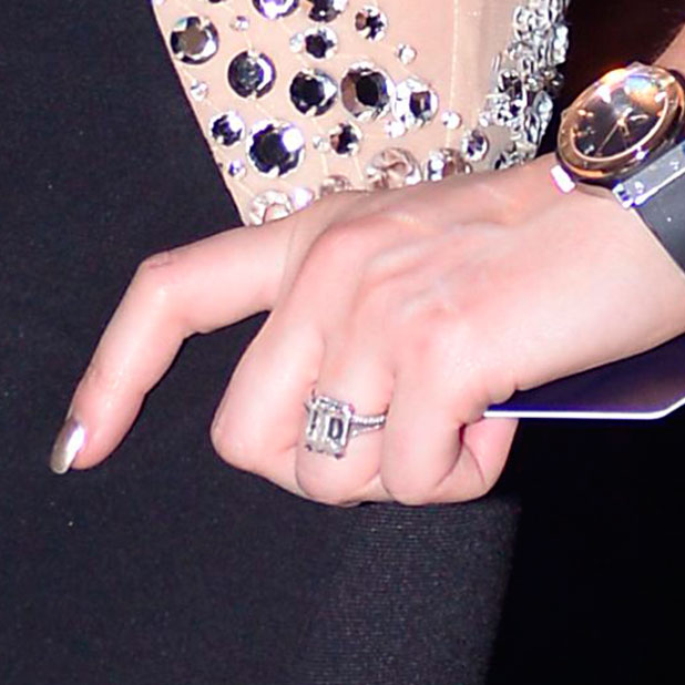 Luisa Zissman shows off engagement ring at the Paul Raymond Adult Industry Awards at Spearmint Rhino, London, Britain - 24 Nov 2014