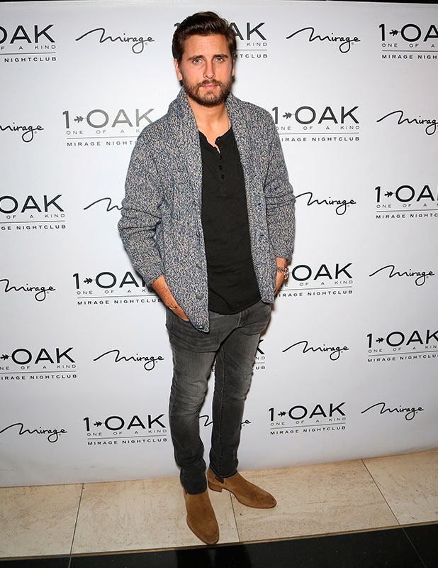 Scott Disick arrives to host a party at 1 OAK Nightclub at The Mirage Hotel & Casino on November 22, 2014 in Las Vegas, Nevada.