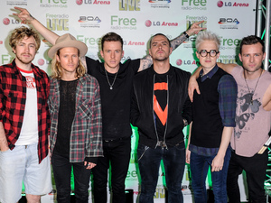 McBusted backstage at the Free Radio Live concert at the LG Arena in Birmingham