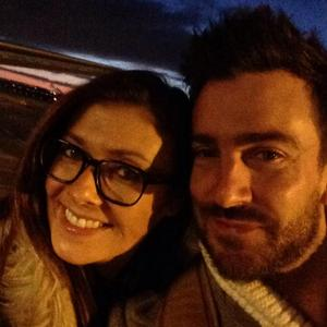 Kym Marsh poses with rumoured new fiancé Dan Hooper, 6 December 2014
