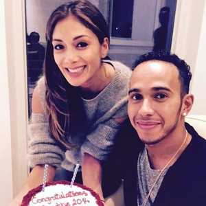 Nicole Scherzinger and Lewis Hamilton on Thanksgiving 29 November