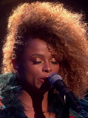 Fleur East performs on The X Factor 2014: 29 November 2014