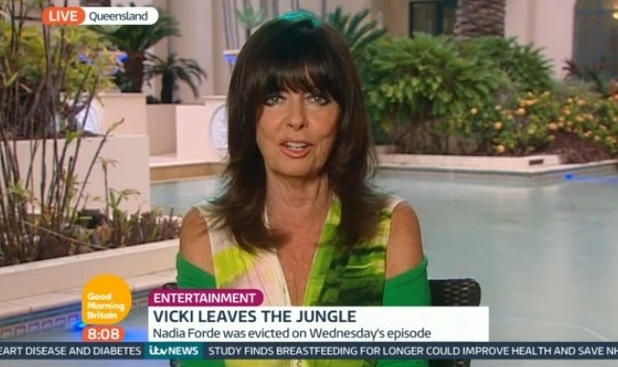 Vicki Michelle speaks on Good Morning Britain following I'm A Celebrity exit - 5 December.
