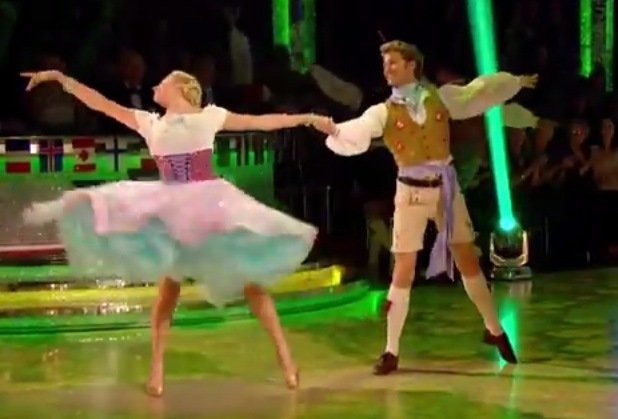 Pixie Lott performs the Viennesse Waltz on Strictly Come Dancing, BBC One 29 November