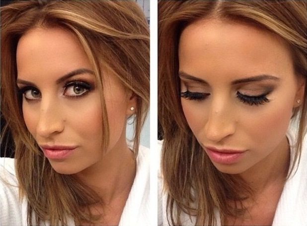 TOWIE's Ferne McCann wears false lashes from Sam Faiers' collection - 2 December 2014