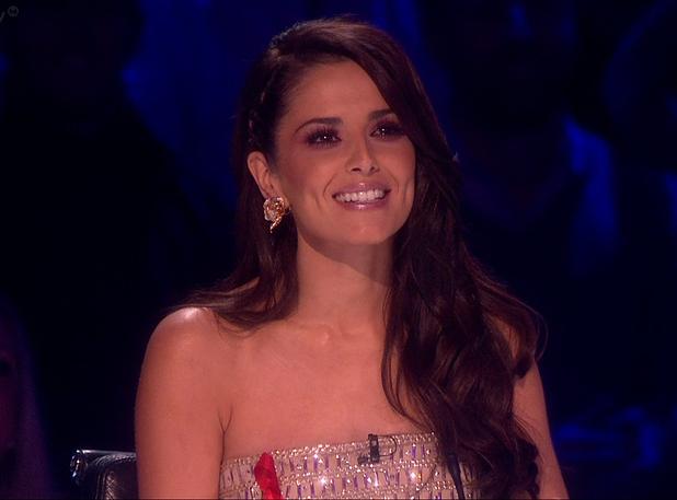 Cheryl Fernandez-Versini debuts her new dark brown hair colour on The X Factor - 29 November 2014