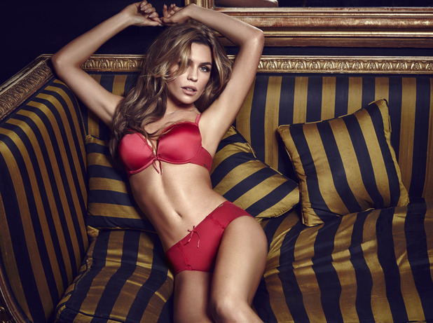 Abbey Clancy models the new Olivia lingerie range by Ultimo - 2 December 2014