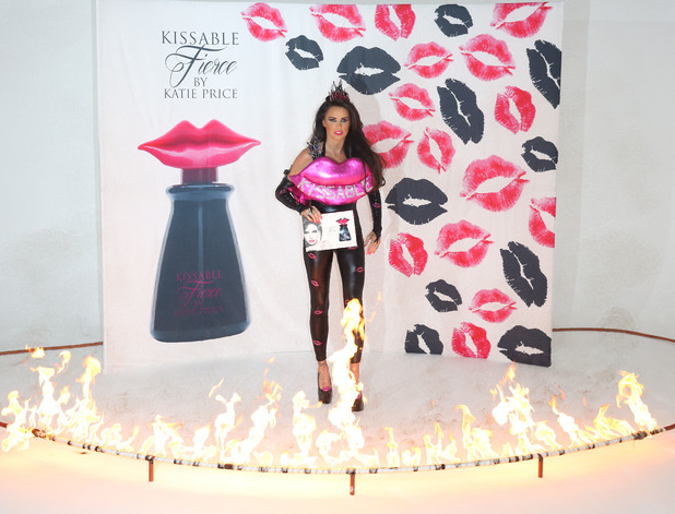 Katie Price launches her new perfume 'Kissable Fierce' at the Worx studios, 3 December 2014