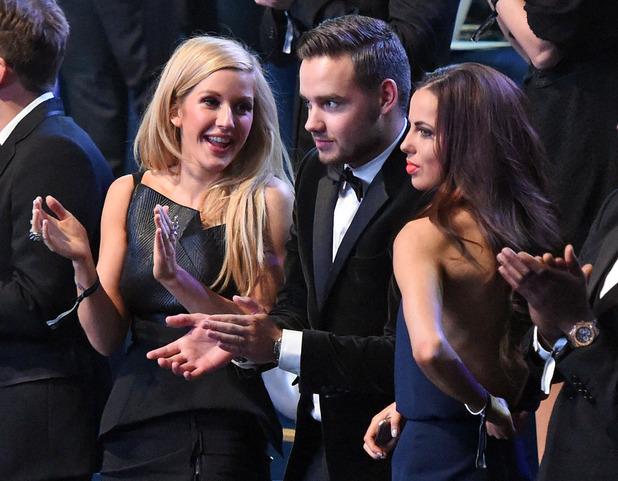 Victoria's Secret Fashion Show, London, Britain - 02 Dec 2014 Ellie Goulding, Liam Payne and girlfriend Sophia Smith