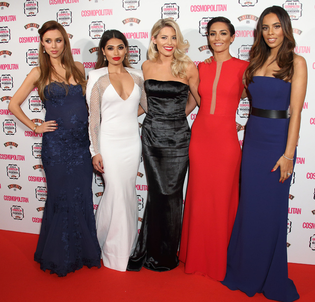 The Saturdays' Mollie King, Rochelle Humes, Frankie Bridge, Vanessa White and Una Foden attend the Cosmopolitan Ultimate Women Awards with Baileys - London - 3 December 2014